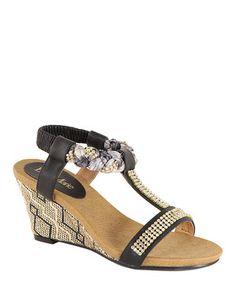 09da93e3063e Bella Marie Black Braided Wedge Sandal