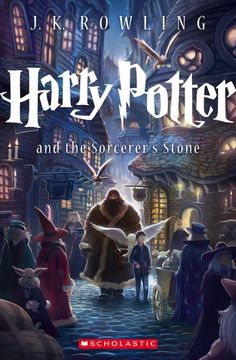 All 7 Harry Potter books receive new covers and a re-release. Check out their first in the series, 'The Sorcerer's Stone'.