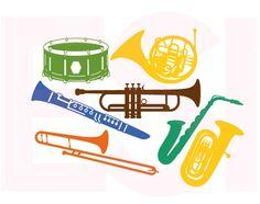 Musical Instrument Design Set. SVG, DXF, PNG, EPS By ESI Designs