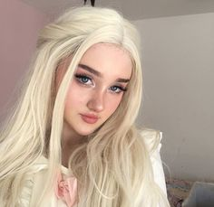 Lace Front Wigs Blonde Wigs for Women Synthetic Hair Long Wavy - Top Trends Long Blonde Curly Hair, Blonde Wig, Hair Styles For Women Over 50, Hair Color Purple, Hairstyle Look, Dye My Hair, Gorgeous Hair, Beautiful, Synthetic Hair