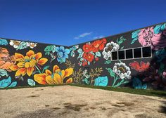 Our (evolving) redesign murals by louise chen mural floral, flower mural, flower Graffiti Art, Murals Street Art, Graffiti Flowers, Graffiti Quotes, Graffiti Wallpaper, Street Graffiti, Art Floral, Mural Floral, Flower Mural