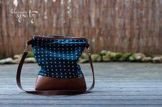 Schultertaschen - Ankerbraut dunkelblau - ein Designerstück von Kleiner_Spatz bei DaWanda