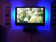 Blue lights behind lcd tv