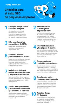 Checklist para el éxito SEO de pequeñas empresas #infografia #infographic #seo Inbound Marketing, Marketing Digital, Content Marketing, Seo Optimization, Search Engine Optimization, Blockchain, Google, How To Get, Sign