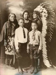 Comanche/African American Family, ca. 1910s (Antique Store's Drawer)