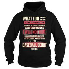 Baseball Scout Job Title T-Shirt