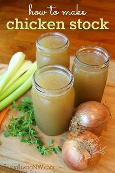 How to make homemade chicken stock (broth) -- so simple! Great way to lower your grocery budget.