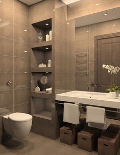 Modern Bathroom Decor: 49 Relaxing Bathroom Design And Cool Bathroom Ideas Relaxing Bathroom, Small Bathroom, Bathroom Colors, Modern Bathroom, Bathroom Decor, Amazing Bathrooms, Beautiful Bathrooms, Bathroom Interior Design, House Interior
