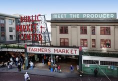 Pike's Place Market in Seattle.  I loved wandering around here with my mom - so many things to see and taste!