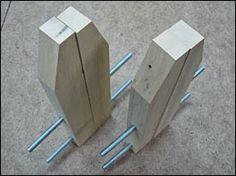 Ah! E se falando em madeira...: como fazer um grampo