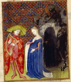 Orpheus, fatally, looks back at Eurydice. Harley MS 4431f. 126v @BLMedieval pic.twitter.com/7FuINyCwUh