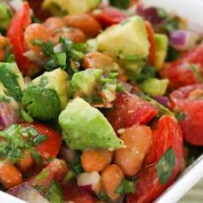Pinto Bean Salad Recipe with Avocado, Tomatoes, Red Onion, and Cilantro Recipe