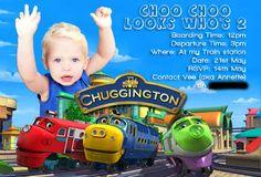 chuggington : Weeeeee, Look who's Birthday Posts, 1st Birthday Parties, 2nd Birthday, Birthday Ideas, Chuggington Birthday, Train Party, Loot Bags, Party Shop, Birthday Candles