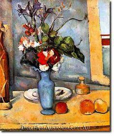 The Blue Vase Paul Cezanne art for sale at Toperfect gallery. Buy the The Blue Vase Paul Cezanne oil painting in Factory Price. All Paintings are Satisfaction Guaranteed Cezanne Art, Paul Cezanne Paintings, Oil Paintings, Renoir, Blue Painting, Paul Gauguin, Stretched Canvas Prints, Oeuvre D'art, Art World