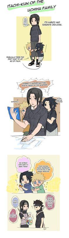 Naruto, Sasuke, and Itachi