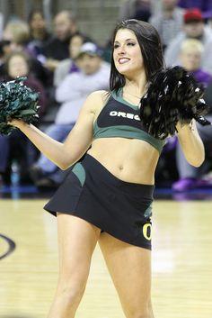 Ducks cheerleaders hot college oregon