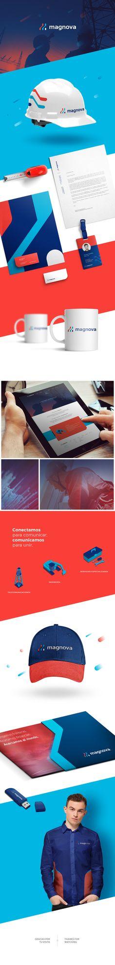 Naming and visual identity for Magnova, a telecommunications company. Nombre y diseño de identidad visual para magnova, empresa de telecomunicaciones en Puebla. BRANDING, IDENTITY, TECHNOLOGY, LOGO, CORPORATE, CONSTRUCTORA, COMUNICACIÓN, COMUNICATION, TECNOLOGIA, DISEÑO GRÁFICO, graphic design, https://www.behance.net/gallery/66308095/Magnova