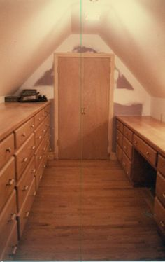 outside access to gable attic | We took an unused attic space and turned it into a dressing room with ...