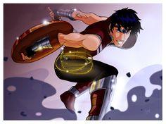 Wonder Boy fight! by ArkanoArt.deviantart.com on @DeviantArt