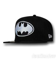 Batman Symbol White Black 59Fifty Cap