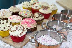 All the cupcakes again. Mini Cupcakes, Icing, Desserts, Fun, Tailgate Desserts, Deserts, Postres, Dessert, Plated Desserts