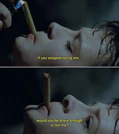 """""""If you stopped loving me, would you be brave enough to tell me?"""" - Juliette Binoche in Leos Carax's """"Mauvais Sang"""" aka """"The Night Is Young"""", 1986."""