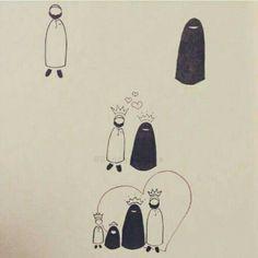 Our social Life Love Cartoon Couple, Cute Love Cartoons, Cute Drawings Of Love, Cute Love Images, Cute Muslim Couples, Islamic Cartoon, Anime Muslim, Hijab Cartoon, Love In Islam
