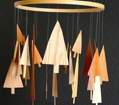 DIY wood tree mobile for nursery by @Andrea Howe