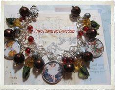 CHRISTMAS FAIRIES~elves~ Handmade,one of a kind, Altered Art Charm Bracelet
