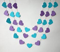 Hey, I found this really awesome Etsy listing at https://www.etsy.com/listing/177646866/heart-garland-valentine-decor-purple