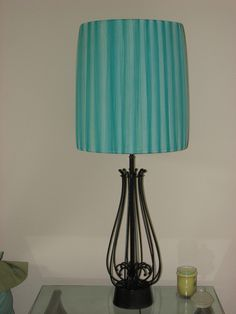 Bought This Pair Of Lamps For Five Bucks At Garage Re Painted Them And Wred The Shades With Wide Tulle Now They Live In One My Guest Rooms