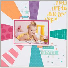 Dream You can do anything. Single Page Scrapbooking Layout with Close To My Heart Adventure paper pack & compliments. Matching made easy! #ctmh #closetomyheart #complements #fundamentals