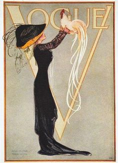 Vintage Vogue Magazine Cover Art,  July 1904
