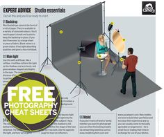 A home studio setup doesn't have to be overly complicated. In this cheat sheet we'll show you six essential items every photographer should have in their home studio setup. Photography Studio Setup, Photography Camera, Video Photography, Light Photography, Digital Photography, Photography Ideas, Portrait Photography, Photography Lighting Setup, Photography Studios