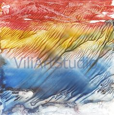 Wind  abstract watercolor painting. Decor . by ViliArtStudio
