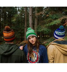 Newport Pom Beanie - TheGreatPNW  #pnw #upperleftusa #thegreatpnw #pacific #northwest #apparel  #fashion #outdoors #hat #beanie #toque #orange #brown #warm #cozy #pom #blue #green #grey #lime