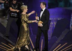 #Oscars 2012: Meryl Streep accepts Academy Award for best actress.