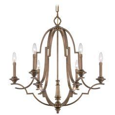 Metropolitan Leichester Aged Brass Chandelier | N6947-575 | Destination Lighting