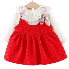 0ebcb358786 Baby Girl Dress Set Clothing for Infant Toddler Kids Girls Princess Clothes  Long Sleeve 6 Months