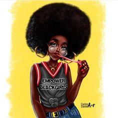 Black Girls Power, Pretty Black Girls, Black Girl Art, Black Women Art, Black Girls Rock, Black Girl Fashion, Black Is Beautiful, Black Girl Magic, Art Women