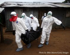 Lack of facilities pose a lot of danger to medical personnel fighting to contain Ebola in Sierra Leone and Liberia hence plastic bags are sometimes  used as face masks