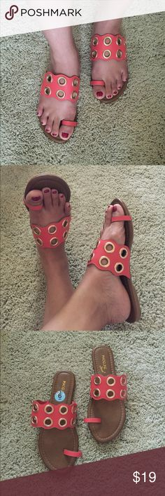 🎉🌞SUMMER SALE🌞🎉NWT Madeline Stuart sandals 💕New without tag😊Great for daily summer wear. Be fashion, be comfy by this flat sandal.😍💕 color hot orange and brown. Check it out my closet for more items to find with reasonable/negotiable price. My goal to bring naming famous fashion brand in reasonable price and bring joy and satisfaction to my customer😍💕💕💕😘FINAL PRICE Madeline Stuart Shoes Sandals
