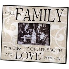 Family And Love Photo Frame ❤ liked on Polyvore