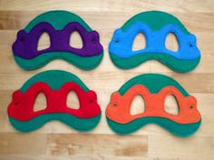 Ninja turtle inspired felt masks for everyone! Playful masks for your youngsters endless hours of pretend play - these make a great addition for Ninja Turtle Mask, Ninja Turtles, Felt Mask, Felt Applique, Sewing Toys, Diy Costumes, Diy Crafts For Kids, Sewing Projects, Etsy