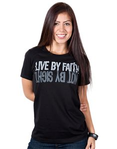 Live By Faith - Christian Womens Shirts for $19.99 | C28.com