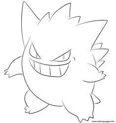 print 094 gengar pokemon coloring pages