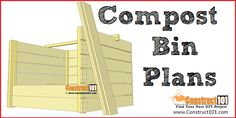 Compost Bin Plans | Free PDF Download Garden Projects, Diy Projects, Garden Compost, Low Maintenance Garden, Step By Step Instructions, Carpentry, Wood Crafts, Finding Yourself, Pdf
