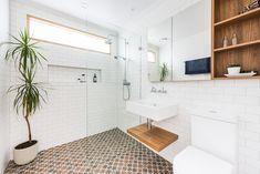 Long Shower Niche and Recess Bathroom Renovations Modern Small Bathrooms Examples Storage Saver Making Small Bathroom Feel Bigger Modern Small Bathrooms, Beautiful Bathrooms, Modern Bathroom, Bathroom Renovations Perth, Remodel Bathroom, Complete Bathrooms, Shower Niche, Bathroom Trends, Home Office Space
