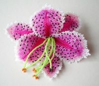 "Stargazer Lily, 4.5"", Sharon Erwine, available as a kit, $85"