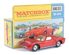 "Matchbox Kingsize No.K24 Lamborghini Miura P400 | < 2,8´ <a href=""https://de.pinterest.com/jimako1969/matchbox-lesney-cars/"" rel=""nofollow"" target=""_blank"">de.pinterest.com/...</a>"